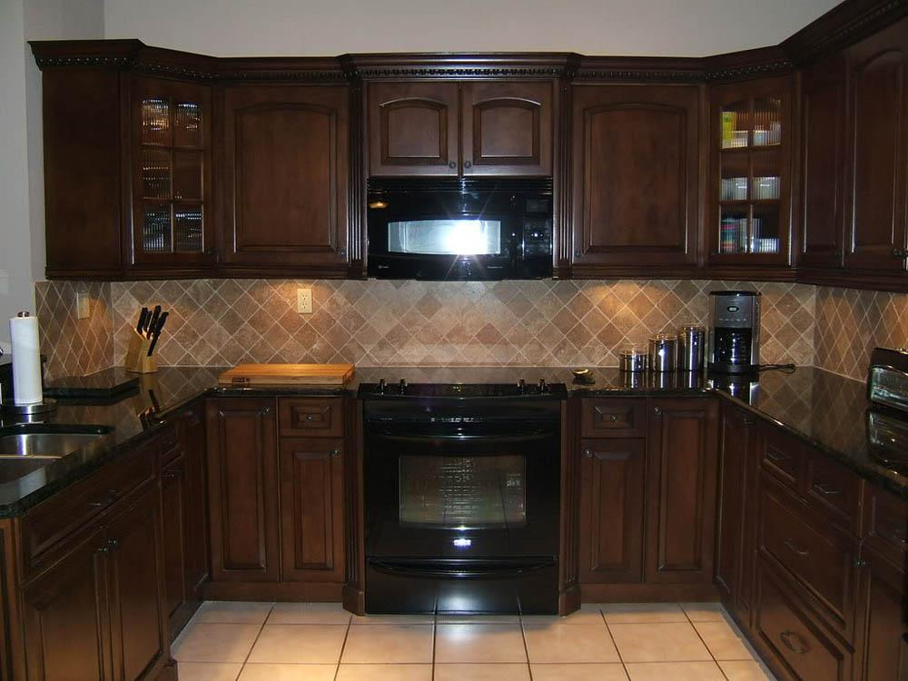 Image of: backsplash for dark countertops