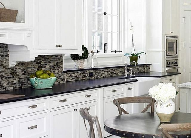 Image of: backsplash for white kitchen