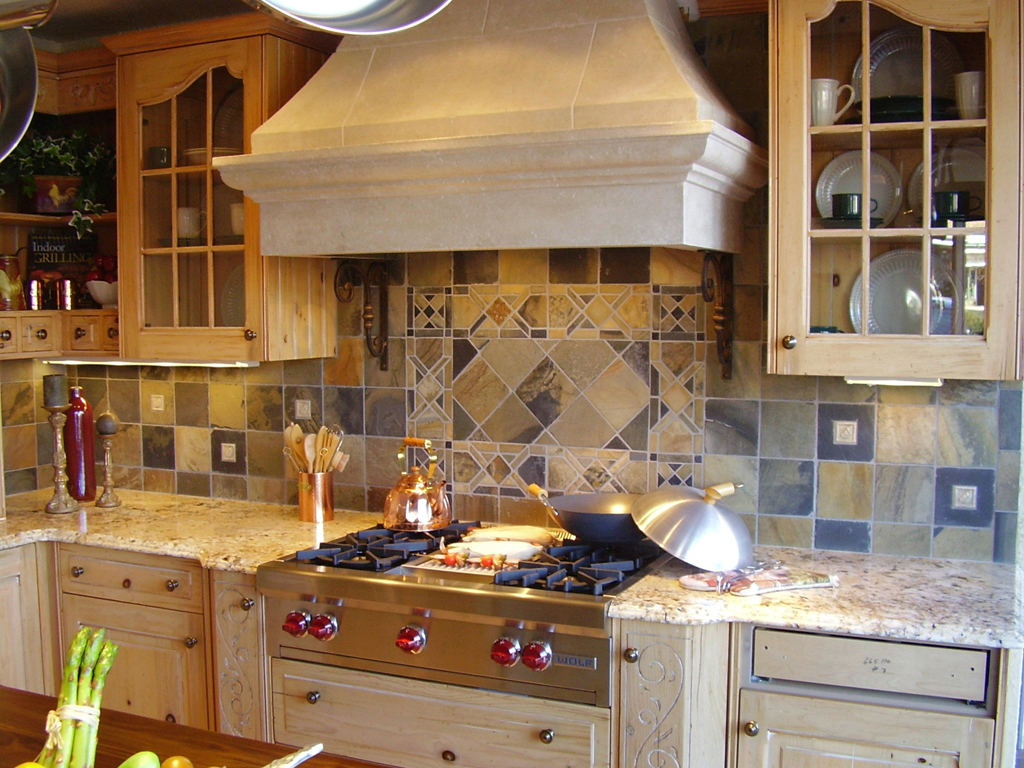 Image of: Contemporary Rustic Backsplash Kitchen Ideas