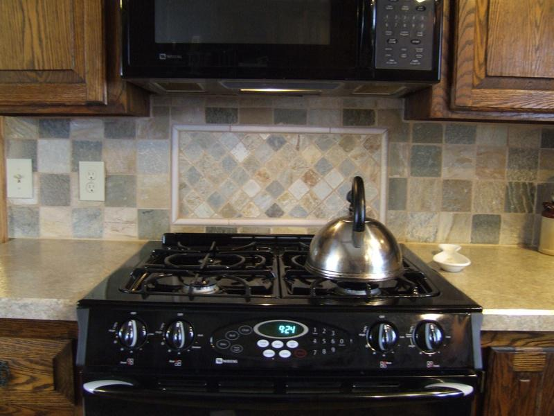 Image of: backsplash slate