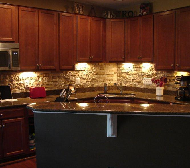 Image of: backsplash stacked stone