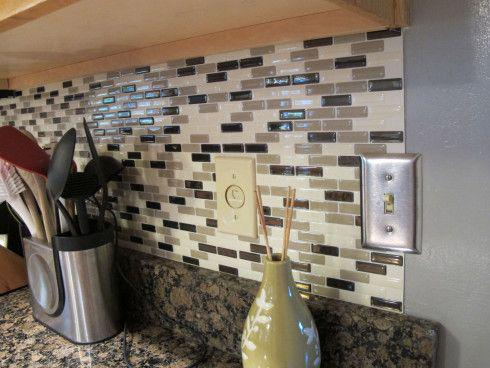 Image of: backsplash stick and peel