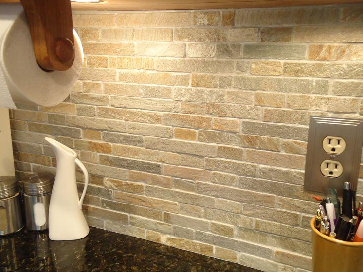 Image of: backsplash stone tile
