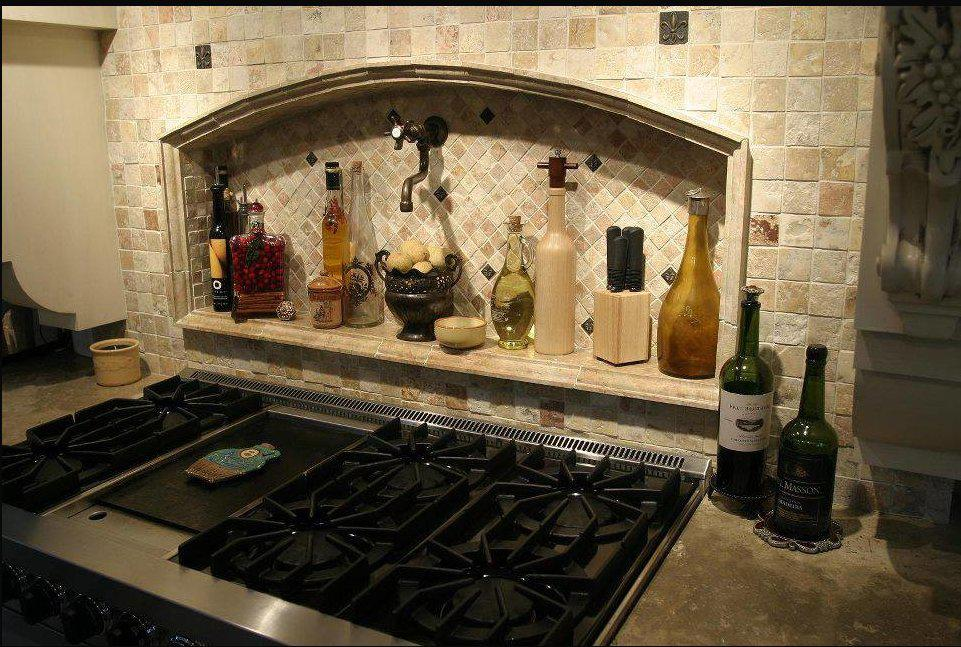 Image of: backsplash tile accents