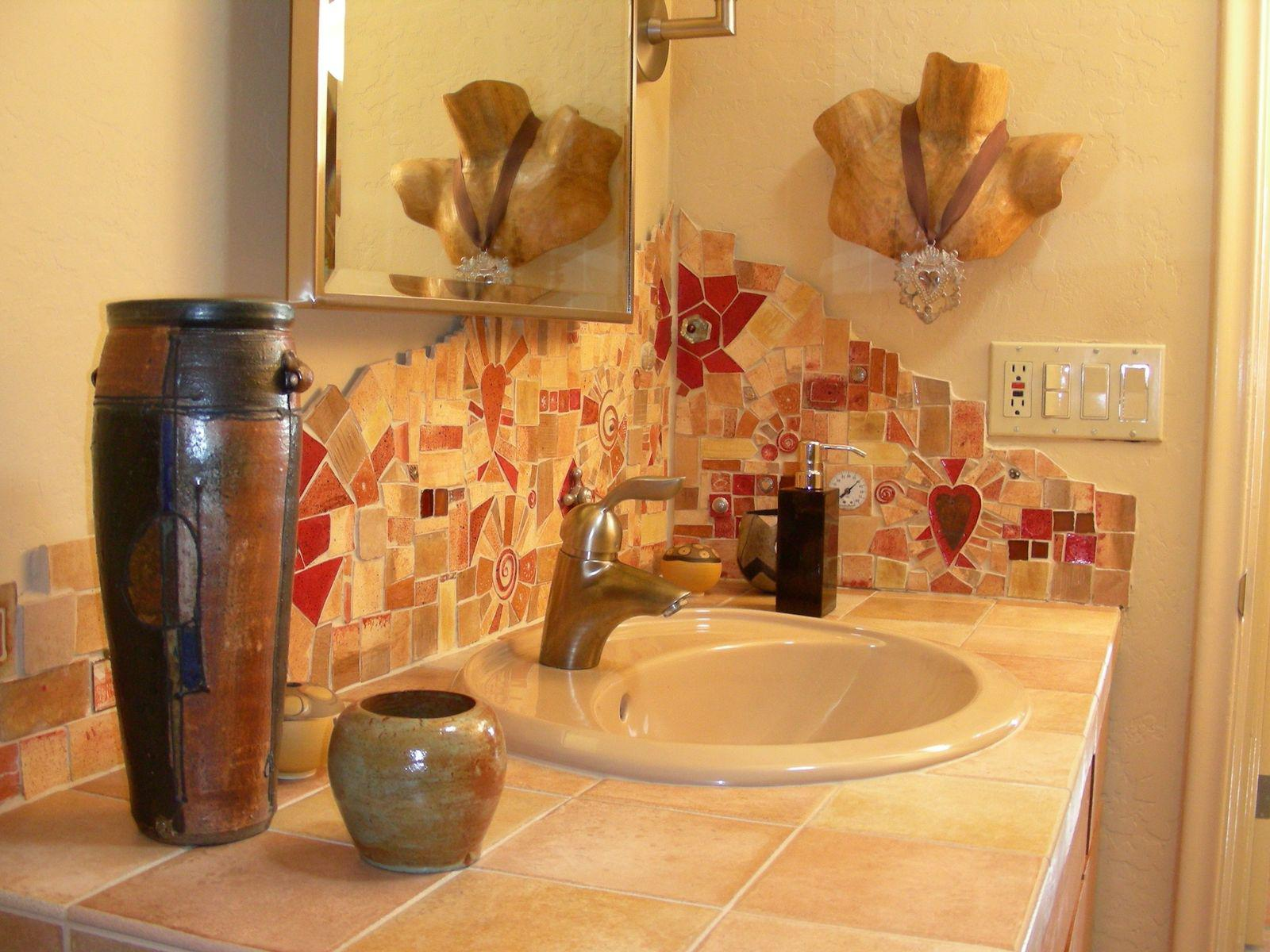 Image of: backsplash tile bathroom