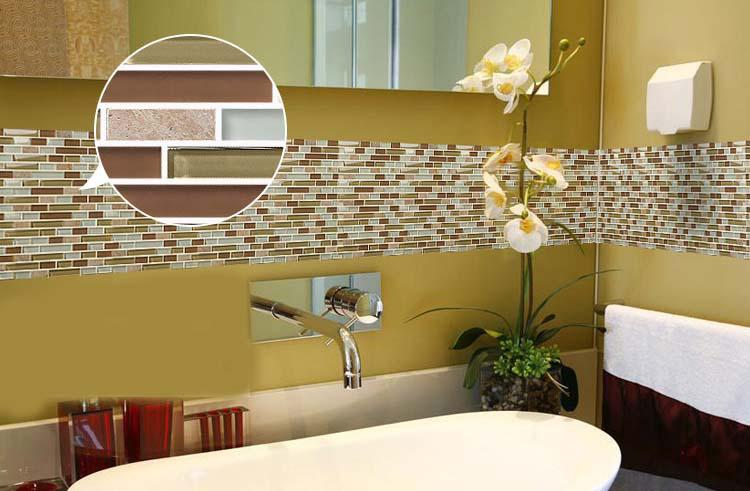 Image of: backsplash tile stickers