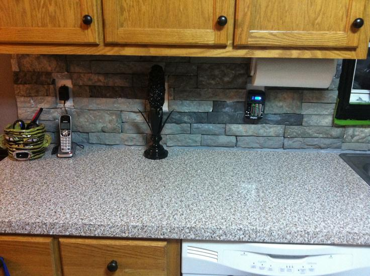 Image of: backsplash with airstone