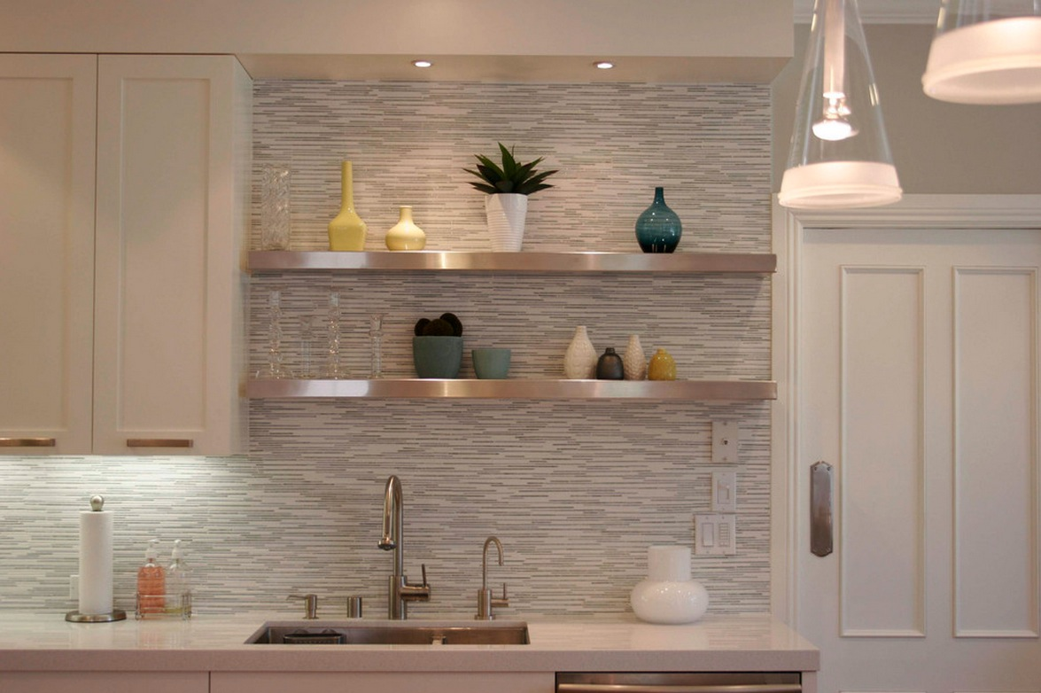 Image of: backsplash with white cabinets