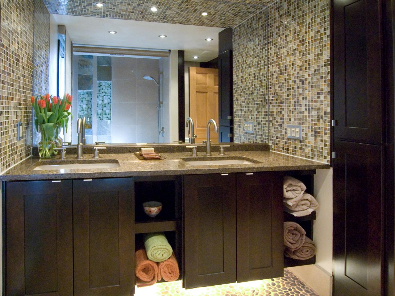 Image of: bathroom vanity backsplash