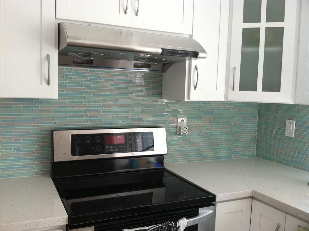 Image of: beach glass backsplash tile