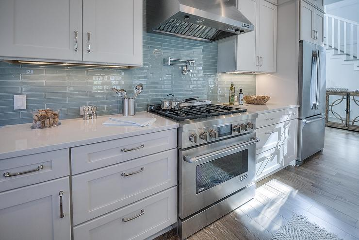 Image of: beach tile backsplash modern