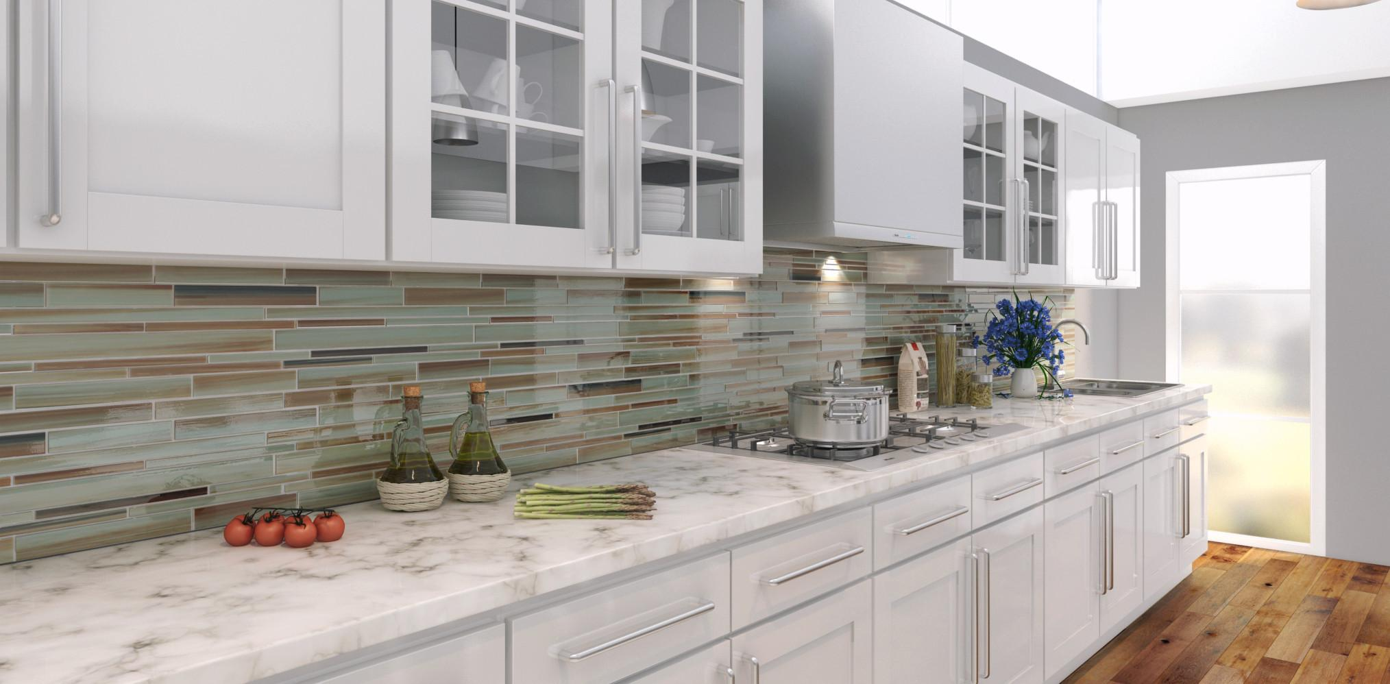Image of: beach tile backsplash unique