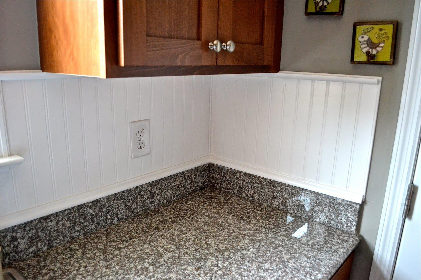 Image of: beadboard backsplash
