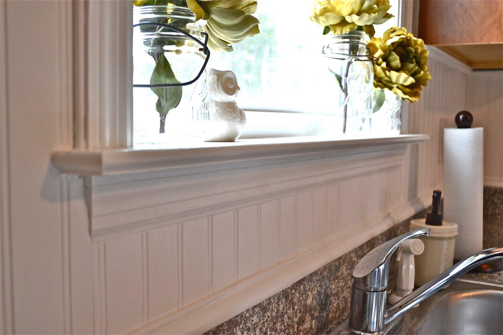 Image of: beadboard tile backsplash