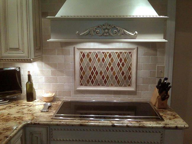 Image of: copper medallion backsplash