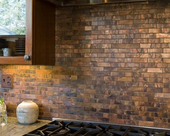Image of: copper tiles for backsplash