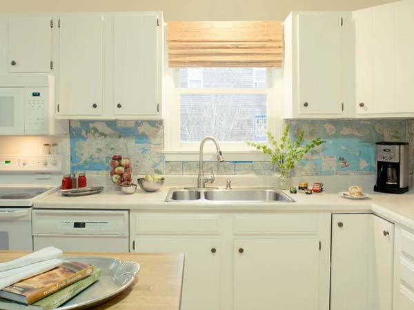 Image of: diy kitchen tile backsplash