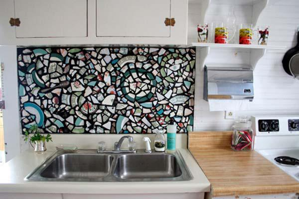 Image of: diy mosaic backsplash