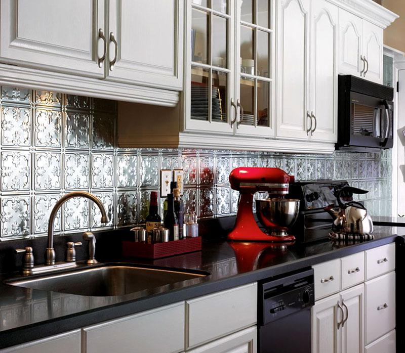 Image of: farmhouse backsplash kitchen