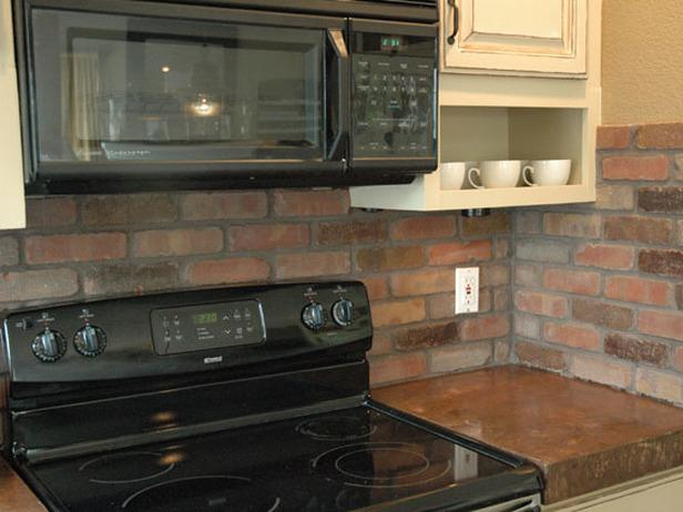 Image of: Faux Brick Backsplash In Kitchen Designs Ideas