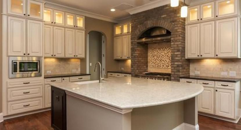 Image of: faux brick tile backsplash