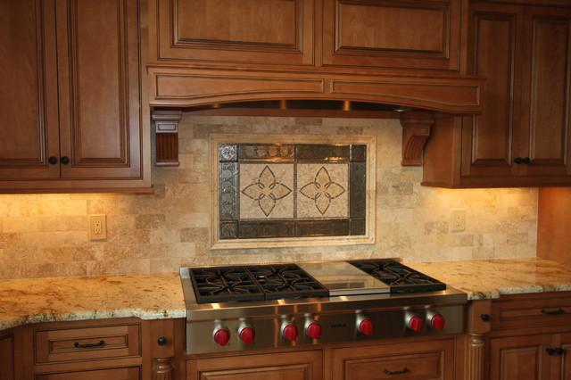 Image of: faux rock backsplash