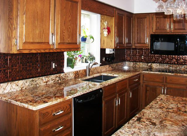 Image of: faux tin backsplash tiles
