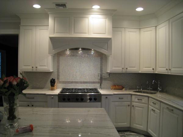 Image of: glass backsplash tile white