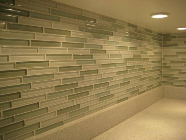 Image of: glass mosaic backsplash