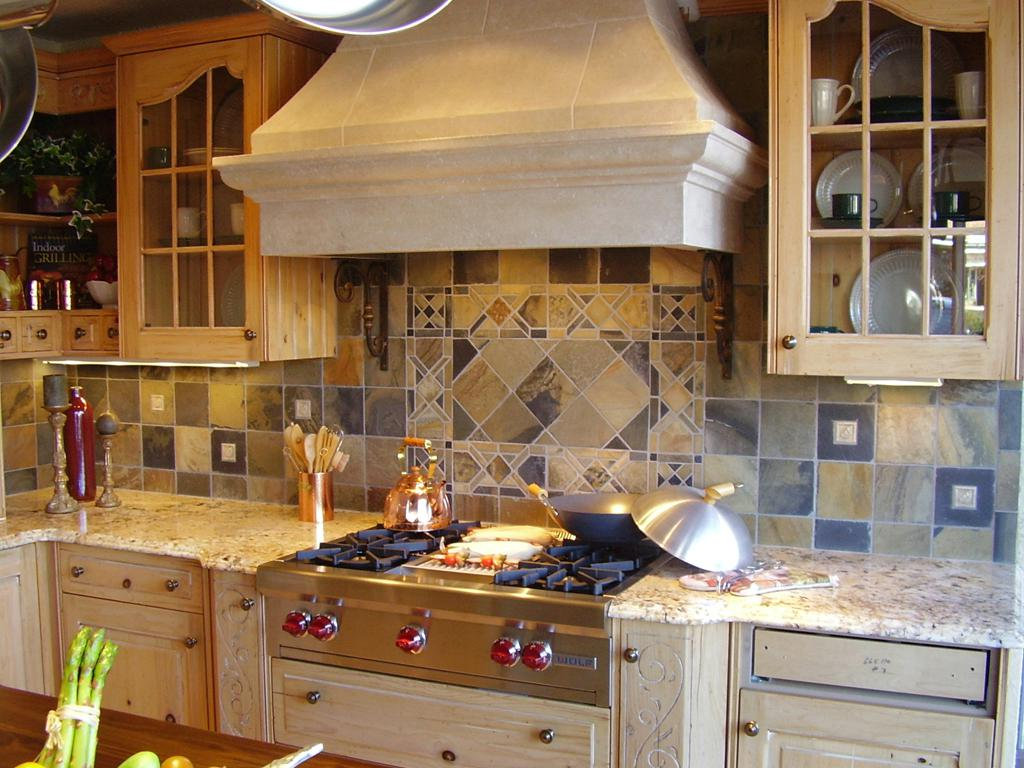 Image of: glass tiles for kitchen backsplashes