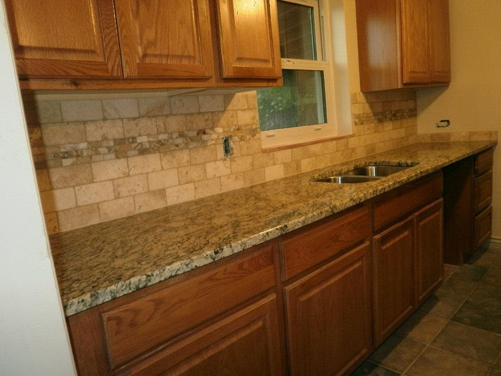 Image of: granite countertops and backsplash designs