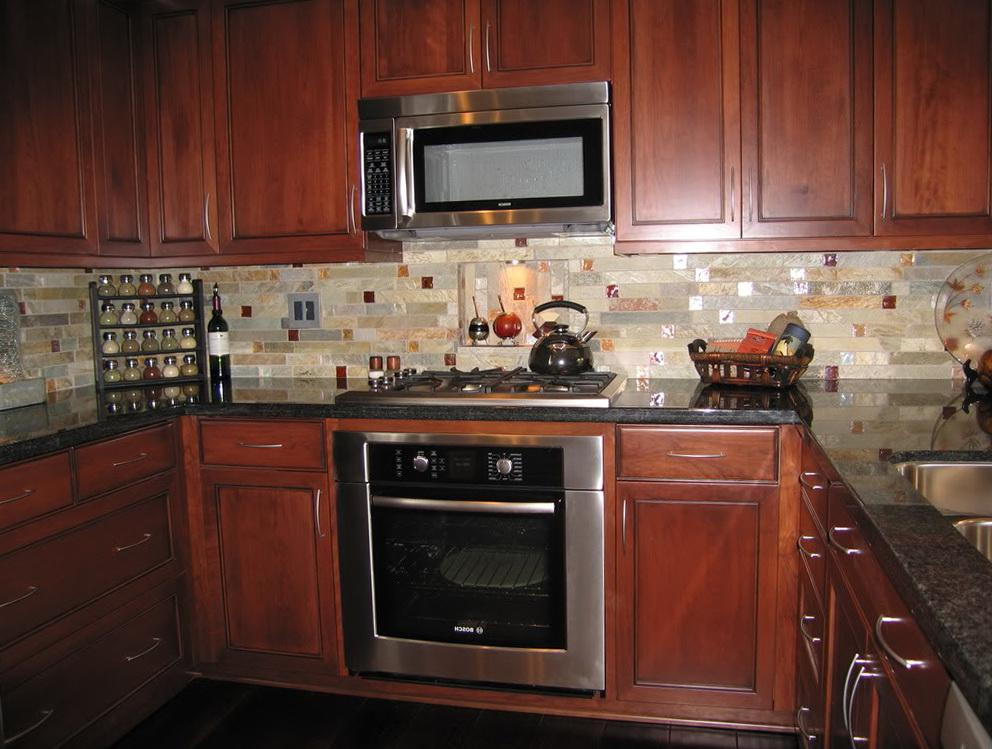 Image of: granite countertops with backsplash