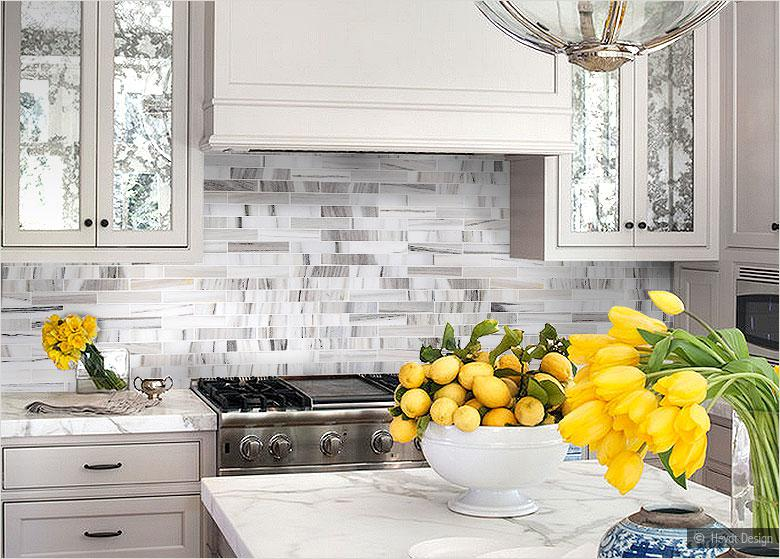 Image of: Grey And White Kitchen Backsplash Designs Ideas