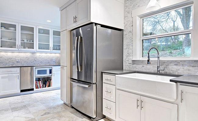 Image of: grey backsplash kitchen