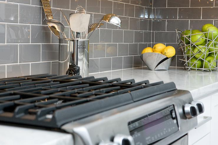 Image of: grey kitchen backsplash cool