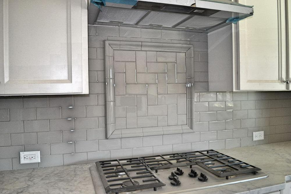 Image of: grey kitchen backsplash modern ideas