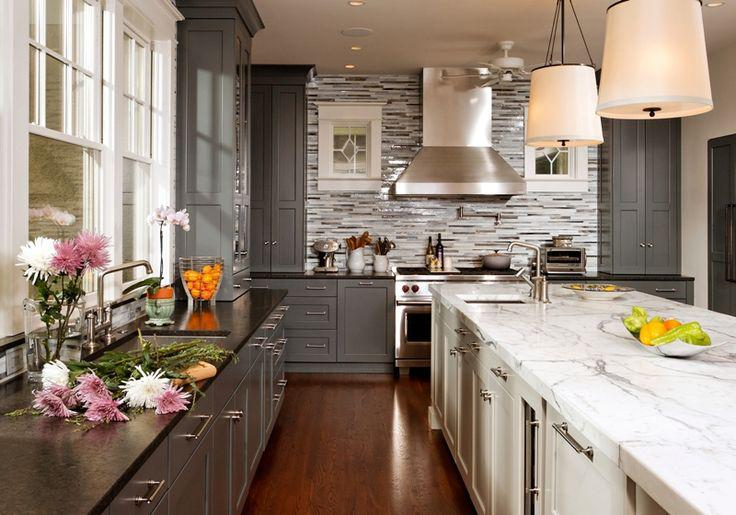 Image of: grey kitchen backsplash unique