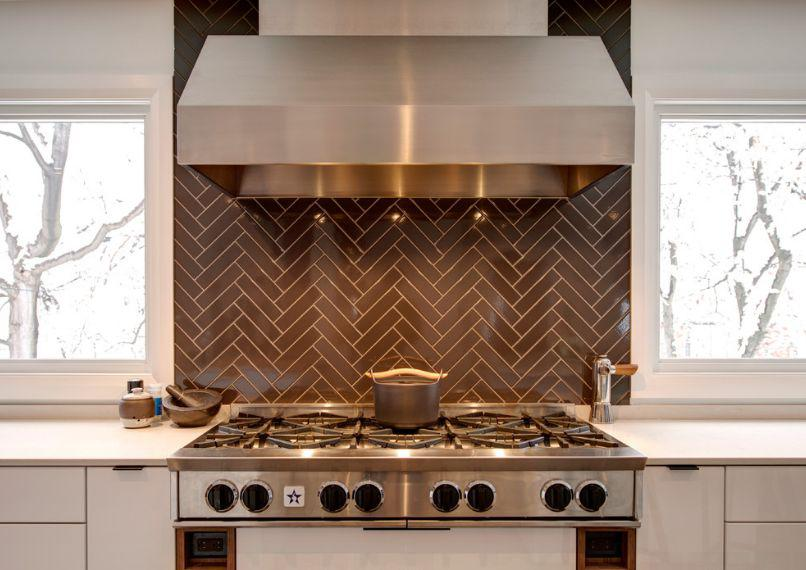 Image of: herringbone kitchen backsplash