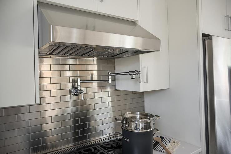Image of: home depot stainless steel backsplash