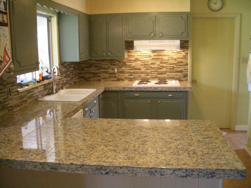 Image of: Kitchen Backsplash And Countertops Designs Ideas