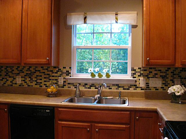 Image of: Kitchen Backsplash Around Window Designs Ideas