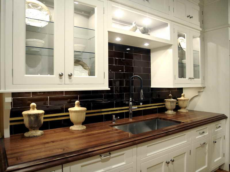 Image of: kitchen backsplash black