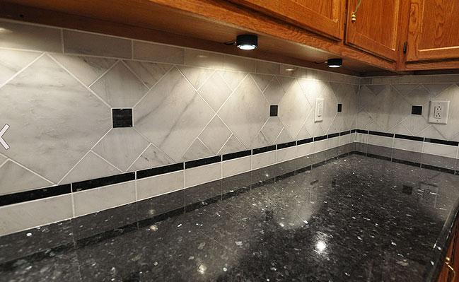 Image of: kitchen backsplash ideas dark granite countertops
