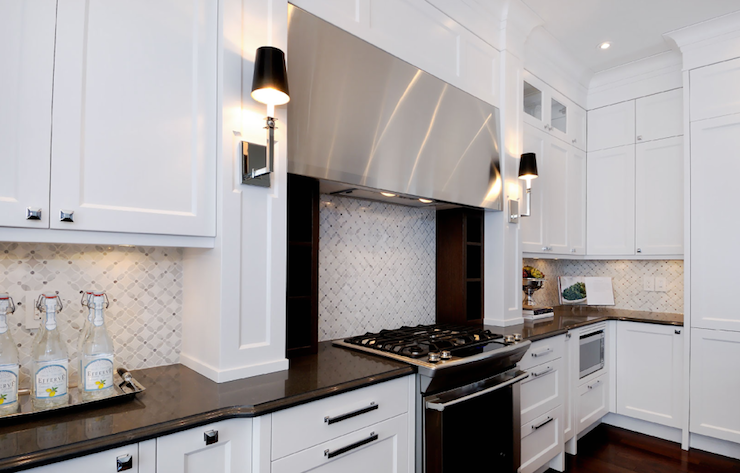 Image of: kitchen backsplash ideas with white cabinets