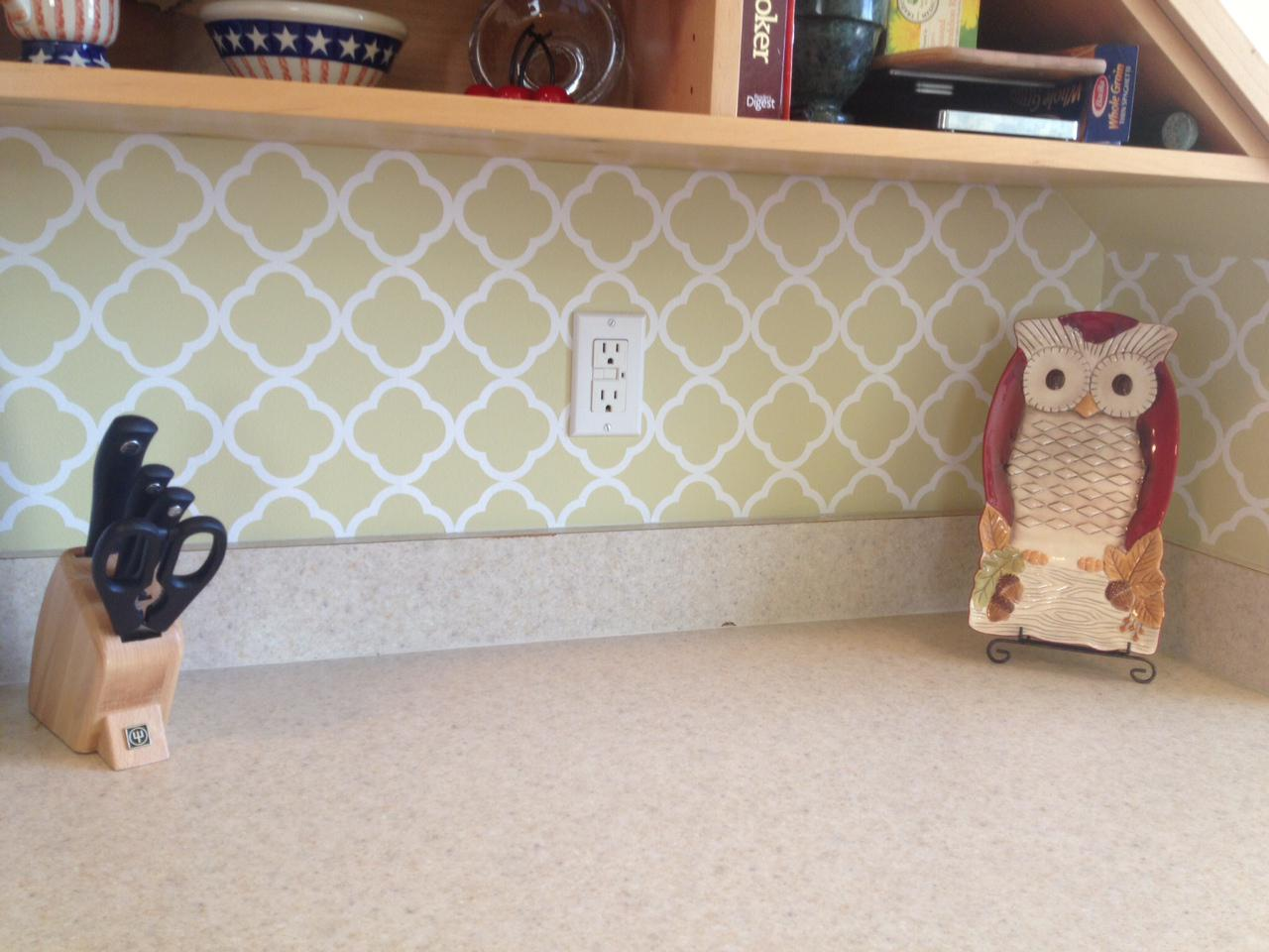 Image of: kitchen backsplash vinyl