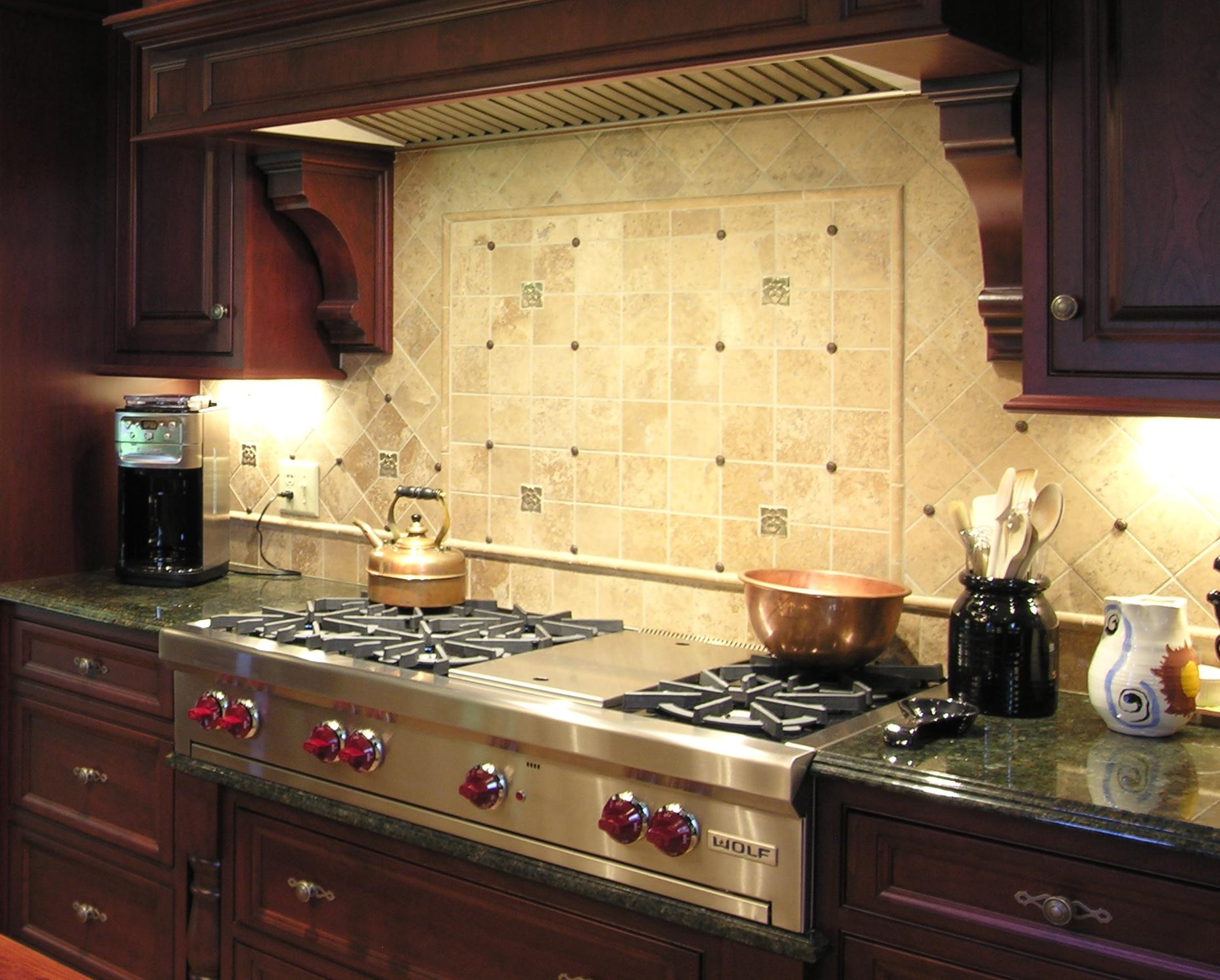 Image of: kitchen stove backsplash