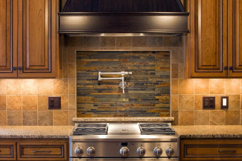 Image of: kitchen tile backsplash designs