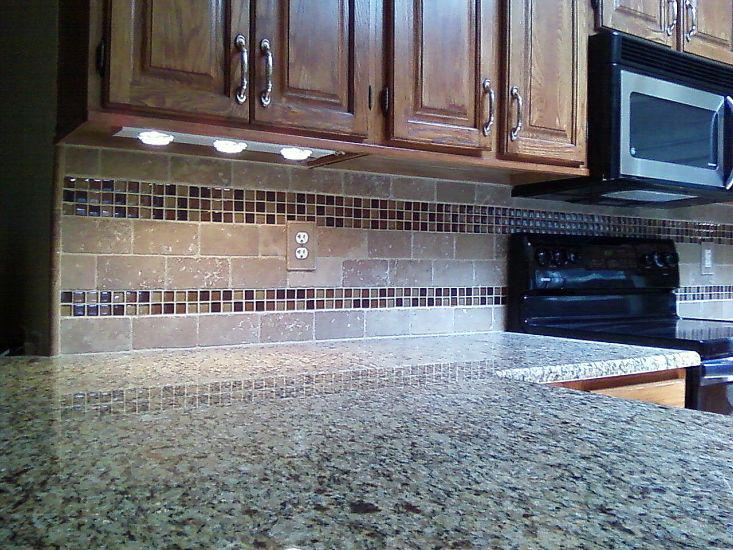 Image of: kitchen travertine backsplash ideas