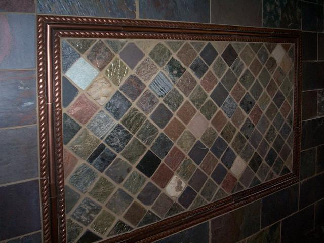 Image of: lowes slate tile backsplash