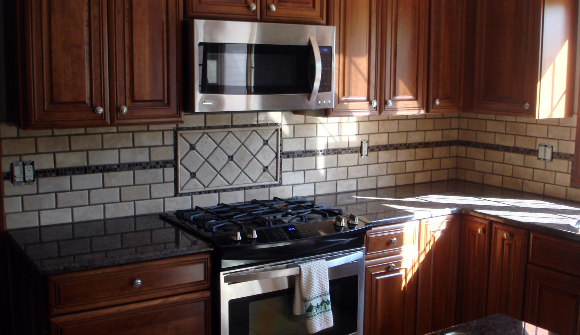 Image of: Marble Mosaic Backsplash Designs Ideas